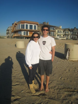 B and me on beach